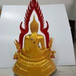 ชินราช ทองเหลือง พ่นทอง 15 นิ้ว.ข้างหลัง