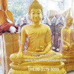 พระพุทธรูป ทองเหลือง พ่นทอง ฐานบัว ปางมารวิชัย หน้าตัก 40 นิ้ว
