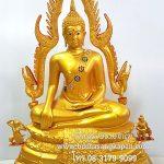 พระพุทธ ชินราช ทองเหลือง พ่นทอง 15 นิ้ว