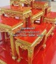 โต๊ะหมู่ไม้สัก แกะลาย ปิดทอง สีแดง หมู่ 9  หน้า 8 01
