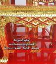 โต๊ะหมู่ไม้สัก แกะลาย ปิดทอง สีแดง หมู่ 9  หน้า 8 02