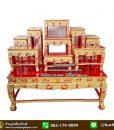 โต๊ะหมู่บูชา 9 ปิดทอง , โต๊ะหมู่บูชา 9 หน้า 10 ไม้สัก, โต๊ะหมู่บูชา ปิดทอง, โต๊ะหมู่บูชา 9 สีทอง