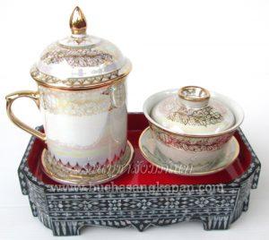 ชุดกี๋มุก ถ้วยน้ำร้อน น้ำชา
