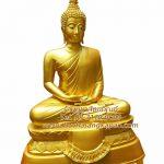 พระพุทธรูป  ทองเหลือง พ่นทอง ฐานบัว ฐานบัว หน้าตัก 30 นิ้ว