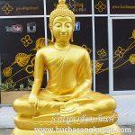 พระพุทธรูป ทองเหลือง พ่นทอง ปางมารวิชัย หน้าตัก 60 นิ้ว
