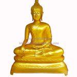 พระพุทธรูป ปางมารวิชัย ทองเหลือง พ่นทอง หน้าตัก 60 นิ้ว ฐานบัว