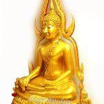 พระพุทธ ชินราช ทองเหลือง  พ่นทอง ฐานบัว หน้าตัก 50 นิ้ว