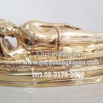 พระประจำวันอังคาร  ( ปางไสยาสน์ ) ทองเหลือง ขัดเงา  หน้าตัก 5 นิ้ว
