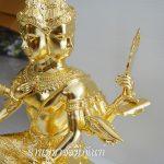 พระพรม ทองเหลือง ปิดทองคำแท้  หน้าตัก 20 นิ้ว ครึงองค์