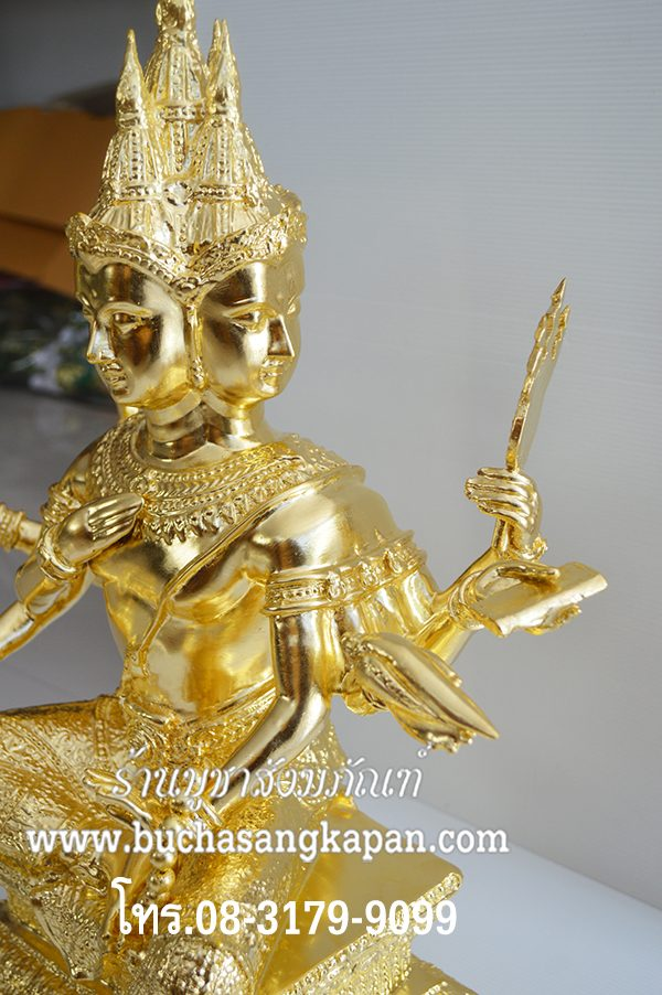 พระพรม ทองเหลือง ปิดทองคำแท้ หน้าตัก 20 นิ้ว