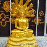 พระพุทธรูป ทองเหลือง พ่นทอง ปางนาคปรก หน้าตัก 25 นิ้ว องค์ที่ 1