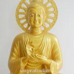 พระพุทธรูป ทองเหลือง พ่นทอง ปางปฐมเทศนา 30 นิ้ว 1