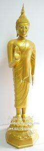 พระพุทธรูป ทองเหลือง พ่นทอง ปางวันจันทร์ 25 นิ้ว