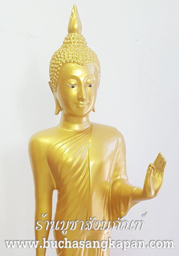 พระพุทธรูป ทองเหลือง พ่นทอง ปางลีลา หน้าตัก 20 นิ้ว 1