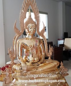 พระพุทธ ชินราช ทองเหลือง ขัดเงา ฐานบัว หน้าตัก 30 นิ้ว