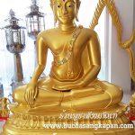 พระพุทธ ชินราช ทองเหลือง  พ่นทอง ฐานบัว หน้าตัก 40 นิ้ว 1