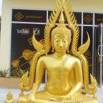 พระพุทธ ชินราช ทองเหลือง  พ่นทอง ฐานเตี้ย หน้าตัก 60นิ้ว