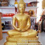 พระพุทะรูป ทองเหลือง พ่นทอง ปางสมาธิ 25 นิ้ว