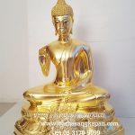 พระพุธรูป ทองเหลือง ปิดทองคำแท้  ปางประทานพร หนักตัก 12 นิ้ว1