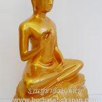 พระพุธรูป ทองเหลือง พ่นทอง ปางประทานพร หนักตัก 12 นิ้ว 1