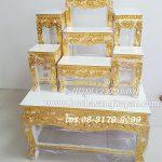 โต๊ะหมู่บูชา ไม้ธรรมคา ปิดทองK  หมู่ 7 หน้า 8
