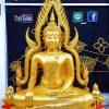 พระพุทธ ชินราช ทองเหลือง ผ่นทอง  หน้าตัก 50 นิ้ว ฐานเตี้ย 01