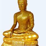 พระพุทธรูป ทองเหลือง พ่นทอง หน้าตัก 35 นิ้ว ฐานบัว