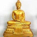พระพุทธรูป ปางสมาธิ ทองเหลือง พ่นทอง หน้าตัก 30 นิ้ว