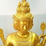 พระพรหม ทองเหลือง พ่นทอง หน้าตัก 20 นิ้ว 1