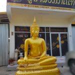 พระพุทธรูป ทองเหลือง พ่นทอง ปางมารวิชัย หน้าตัก 70 นิ้ว ฐานบัว 1