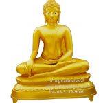 พระพุทธรูป ทองเหลือง พ่นทอง ปางมารวิชัย หน้าตัก 70 นิ้ว ฐานบัว