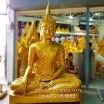 พระพุทธรูป ทองเหลือง พ่นทอง ปางมารวิชัย  หน้าตัก 80 นิ้วฐานเตื้ย