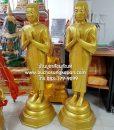 พระโมคคัลลานะ ทองเหลือง พ่นทอง ขนาด 20 นิ้ว (ยืน ) 01