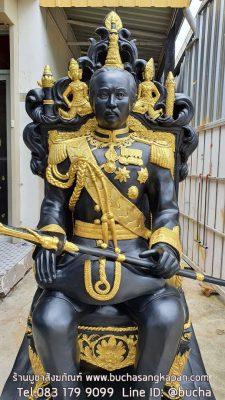 พระรูปเหมือน เสด็จพ่อ ร.๕ (นั่งบัลลังค์) ทองเหลือง ขนาด 30 นิ้ว (เท่าองค์จริง) 01