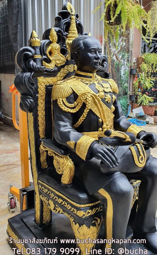 พระรูปเหมือน เสด็จพ่อ ร.๕ (นั่งบัลลังค์) ทองเหลือง ขนาด 30 นิ้ว (เท่าองค์จริง),