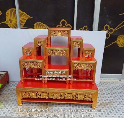 โต๊ะหมู่บูชา 9 สีทอง, โต๊ะหมู่บูชา 9 หน้า 10 ไม้สัก, โต๊ะหมู่บูชา 9 หน้า 15, โต๊ะหมู่บูชา 9 ปิดทอง, ขนาดโต๊ะหมู่บูชา 9 หน้า
