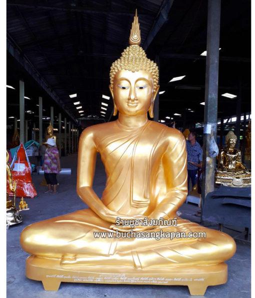 พระพุทธรูปปางมาธิ เนื้ออัลลอยด์ พ่นทอง หน้าตัก 80 นิ้ว01